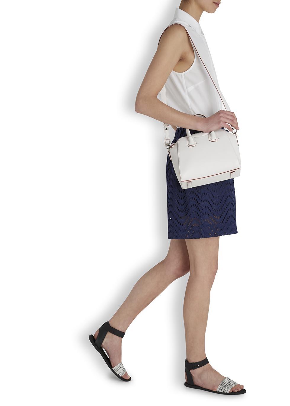 53fdb0560e Givenchy Antigona White Mini Leather Tote in White - Lyst