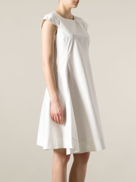 Jil Sander Loose Fit Dress In White Lyst