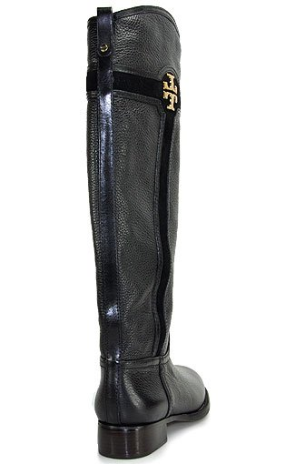 919c20586b7729 Tory Burch Alaina Boot Tall Flat Boot in Black in Black - Lyst