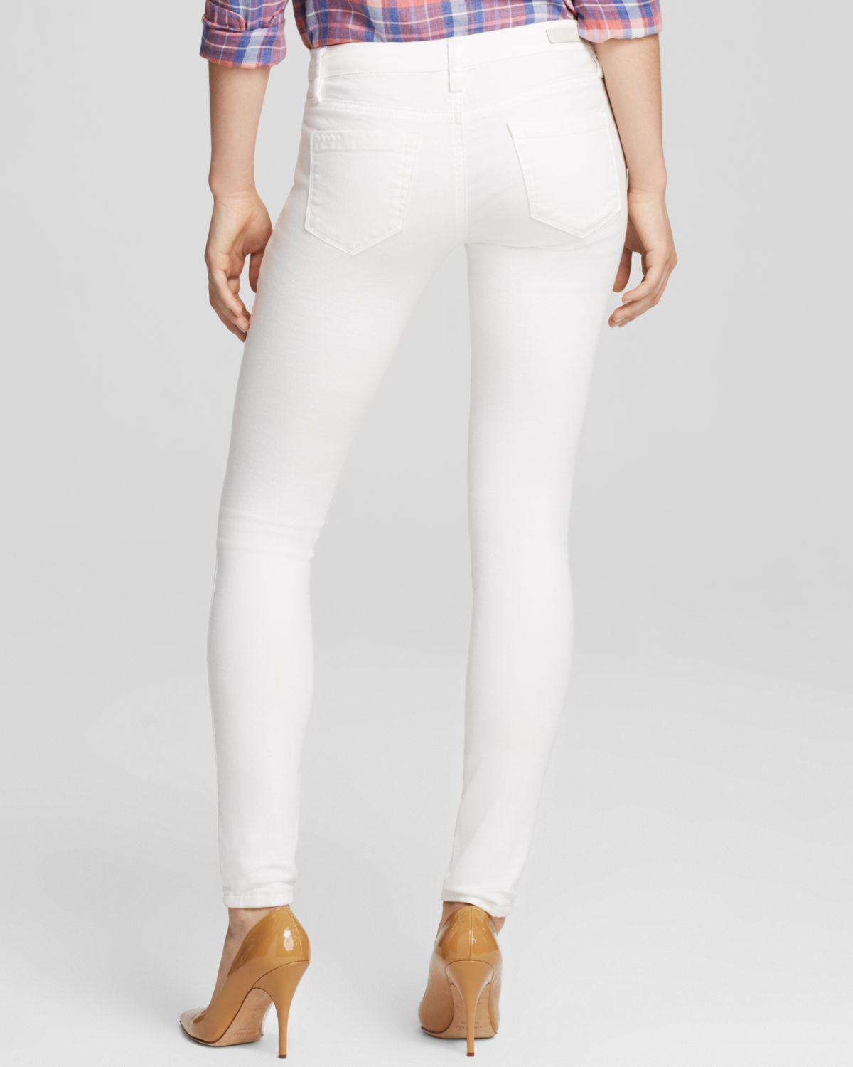 Blank Jeans - Shredded Skinny In White in White | Lyst