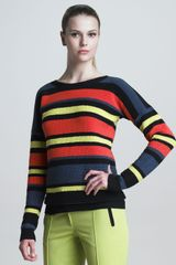 Jason Wu Crochet Striped Pullover