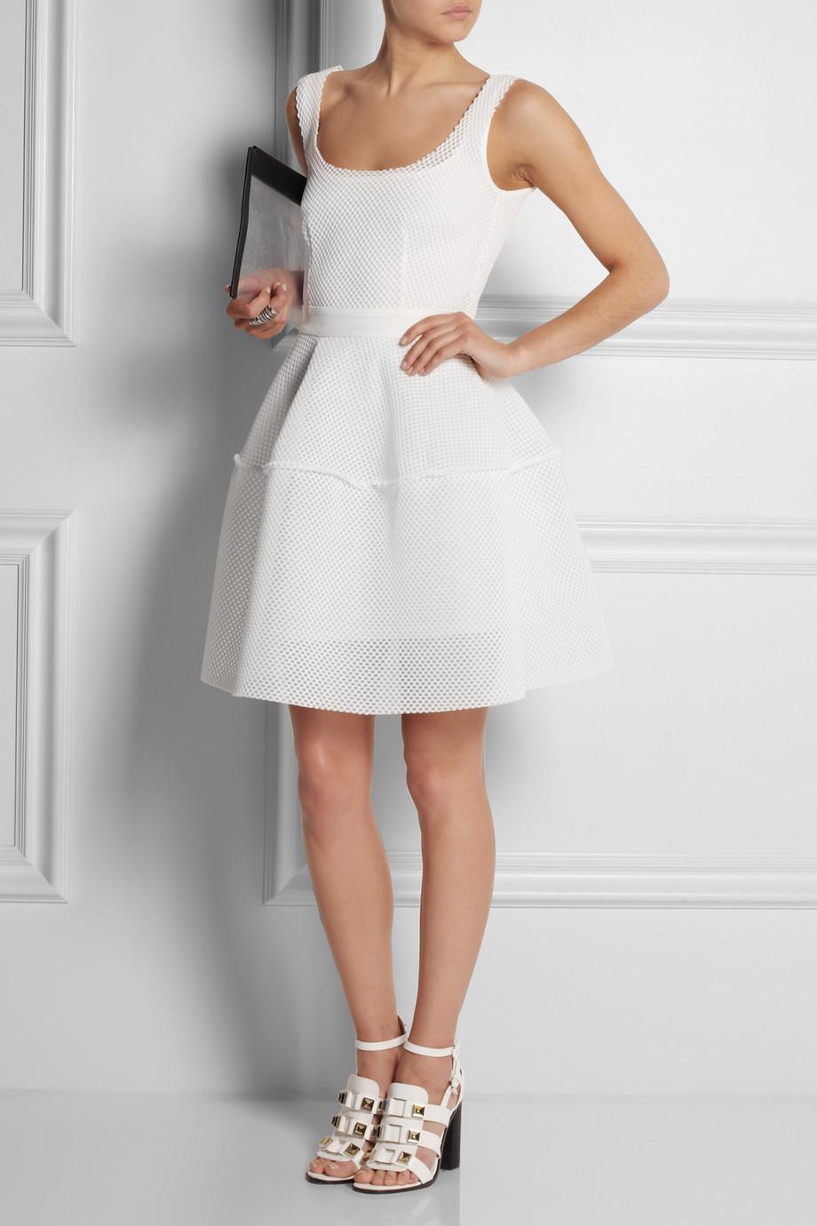 Lyst Maje Floral Embroidered Cotton Blend Cloqu 233 Dress