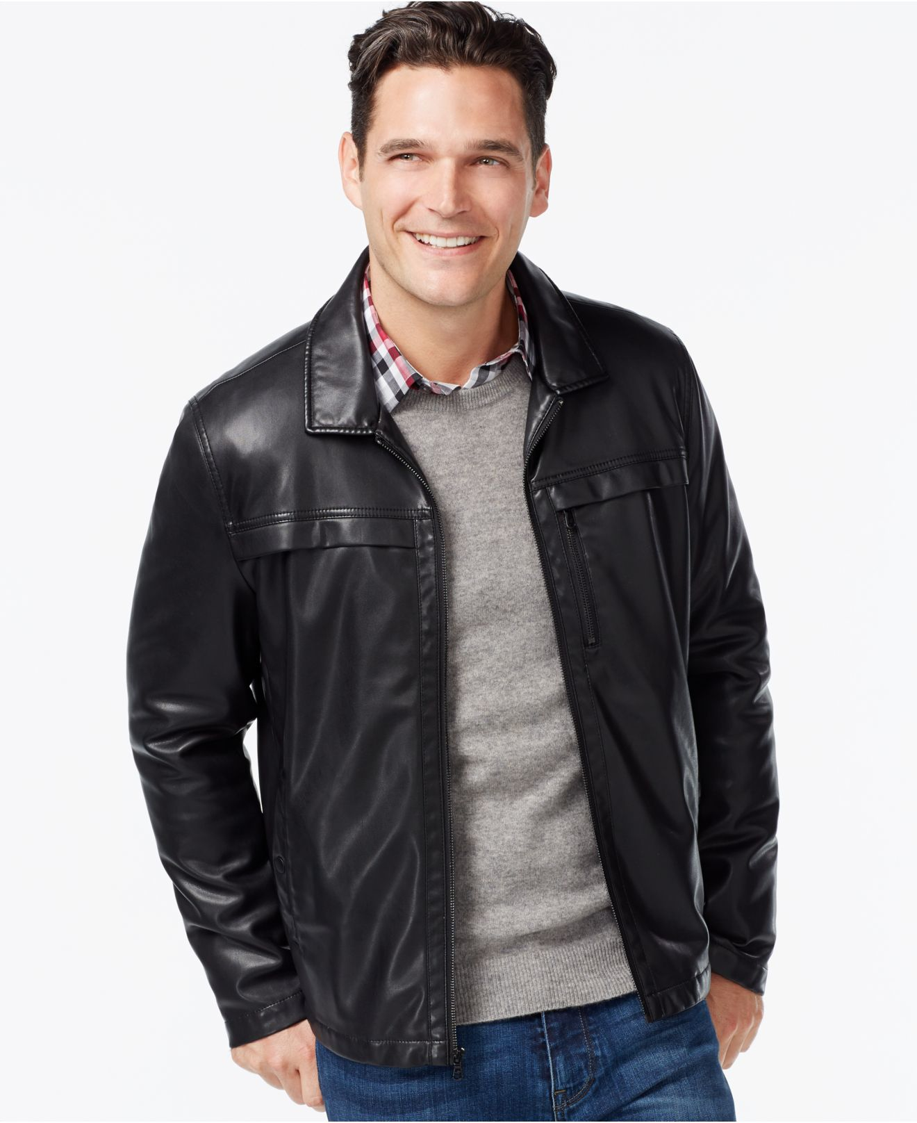 Kenneth cole faux leather jacket