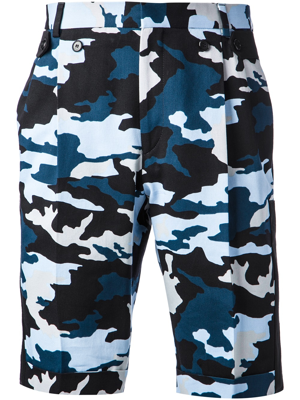 Lyst Givenchy Camo Print Shorts In Blue For Men