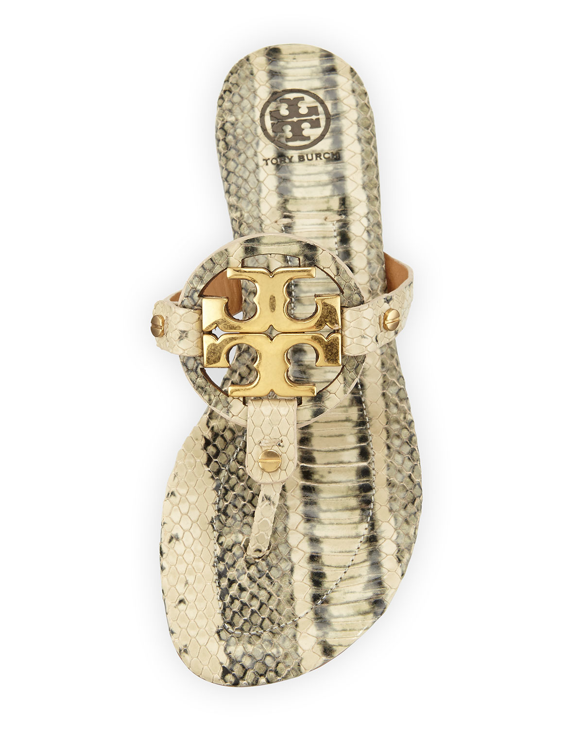 afbac37ea8db8 Lyst - Tory Burch Miller 2 Snake-Print Cork Sandals