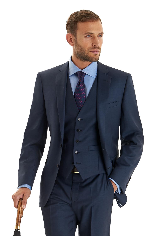 Mens Indigo Blue Suit Dress Yy