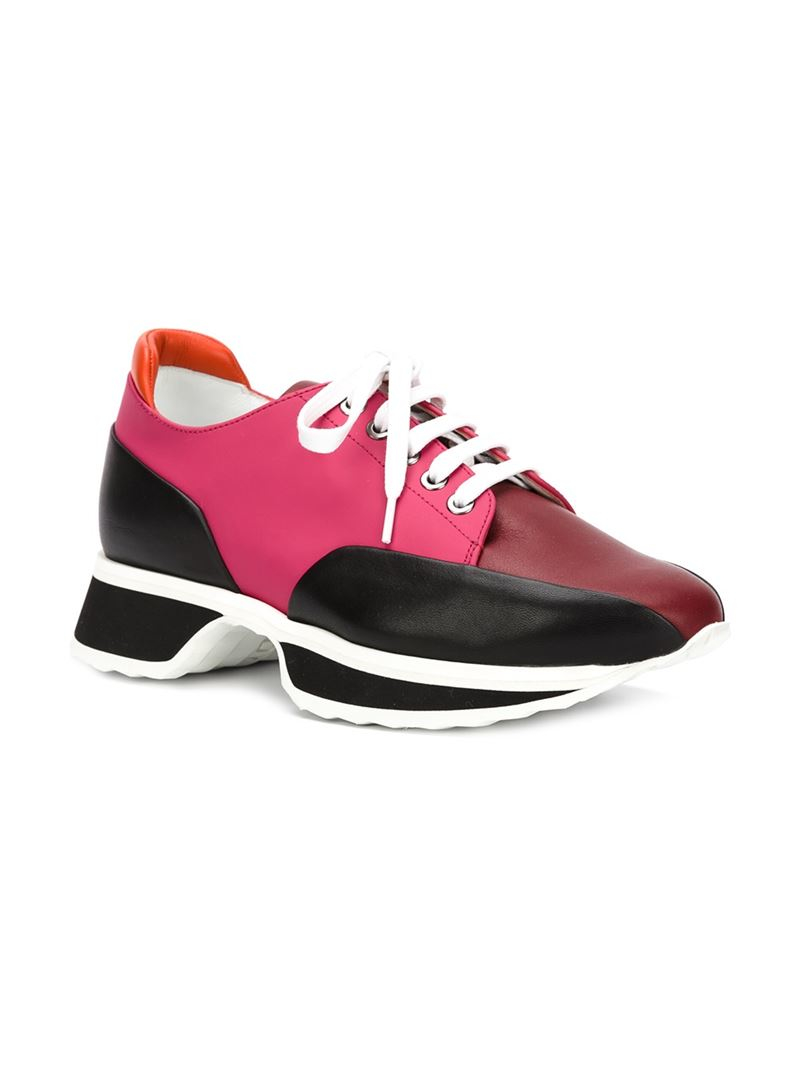 pierre hardy 39 turbo 39 sneakers in pink lyst. Black Bedroom Furniture Sets. Home Design Ideas