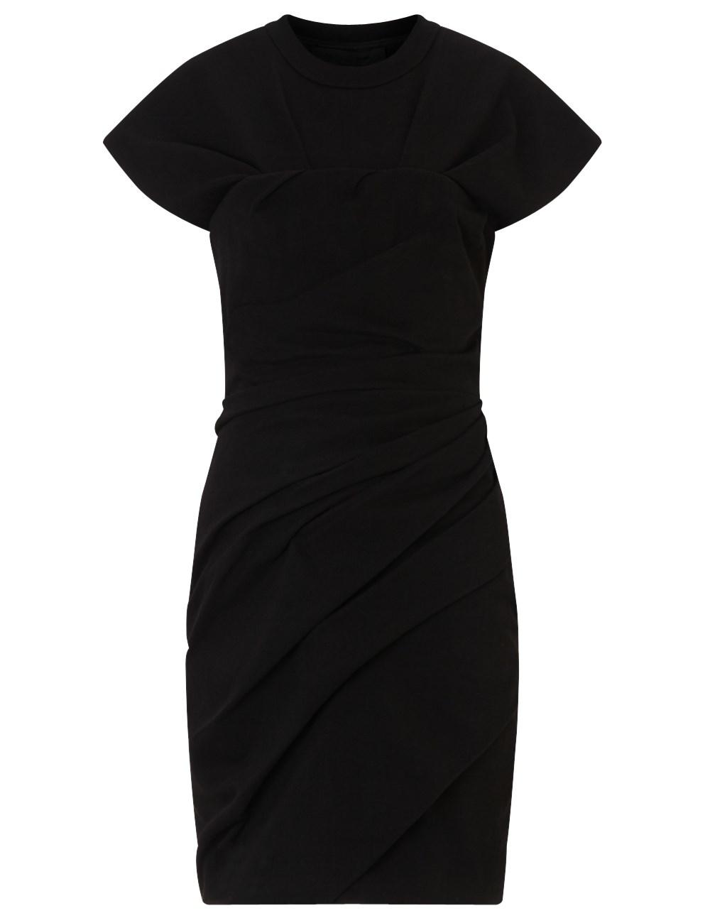 Alexander wang Black Cotton T-shirt Mini Dress in Black - Lyst