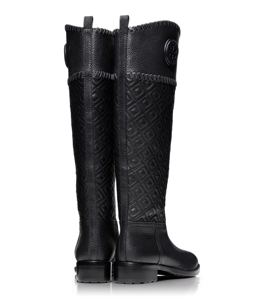ff9b722b7ba Lyst - Tory Burch Marion Quilted Riding Boot in Black