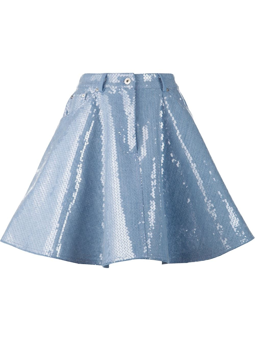 Blue Sequin Skirt 81
