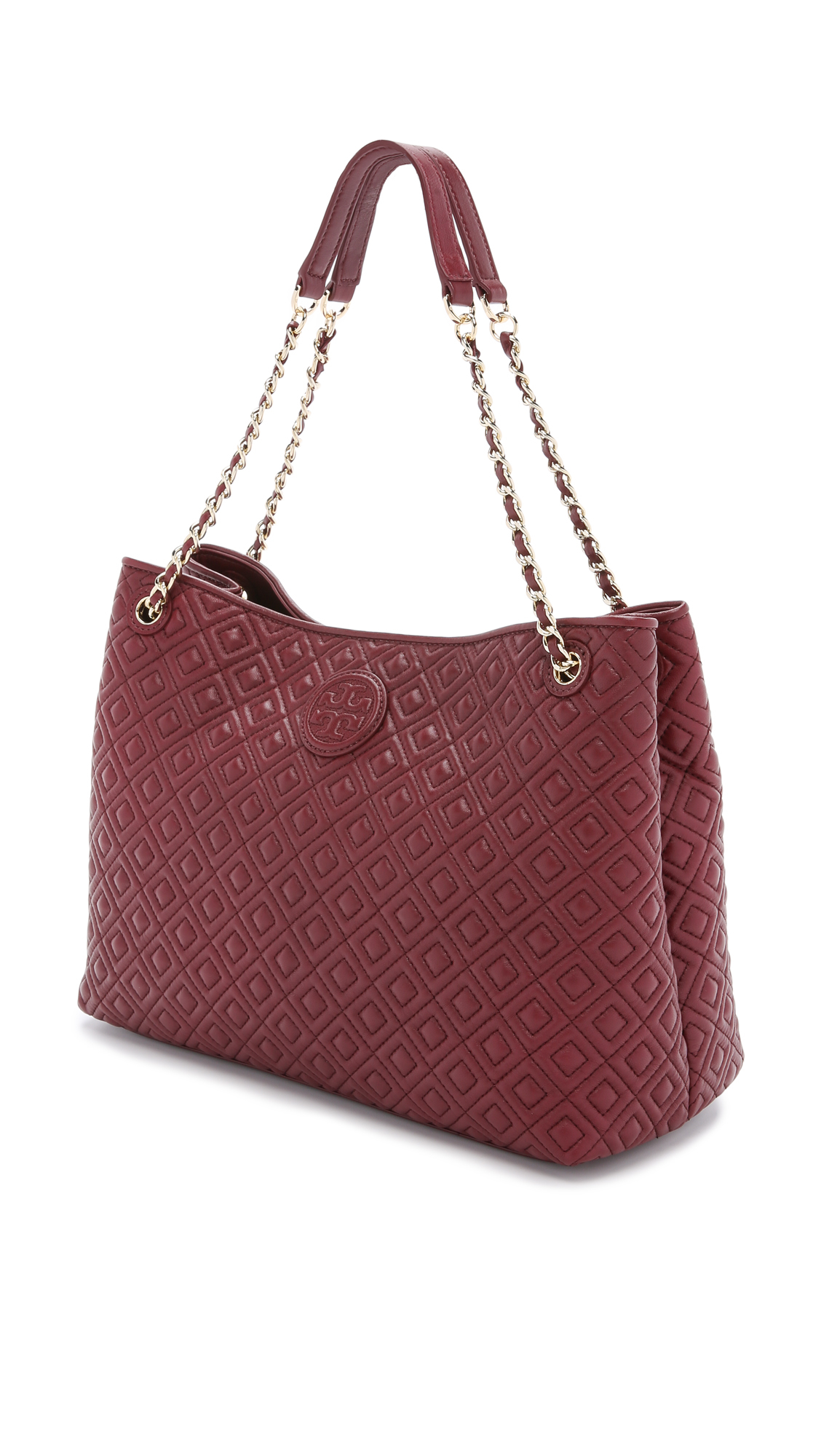 Tory burch Marion Quilted Shoulder Bag - Red Agate in Red | Lyst