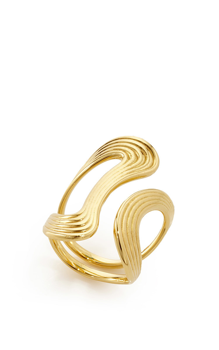 Fernando Jorge Yellow-gold Cushioned Lines ring 78pXL