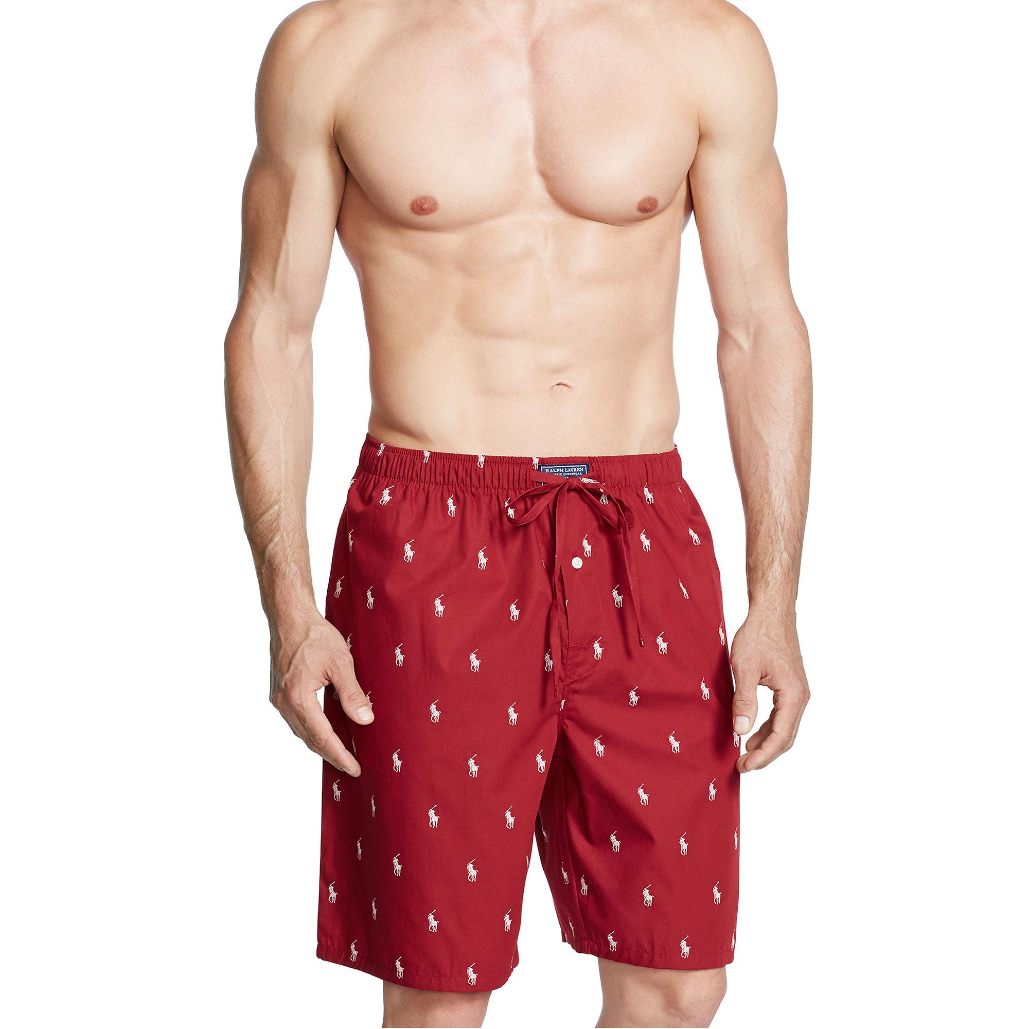 6e20e284c Polo Ralph Lauren Allover Pony Sleep Short in Red for Men - Lyst