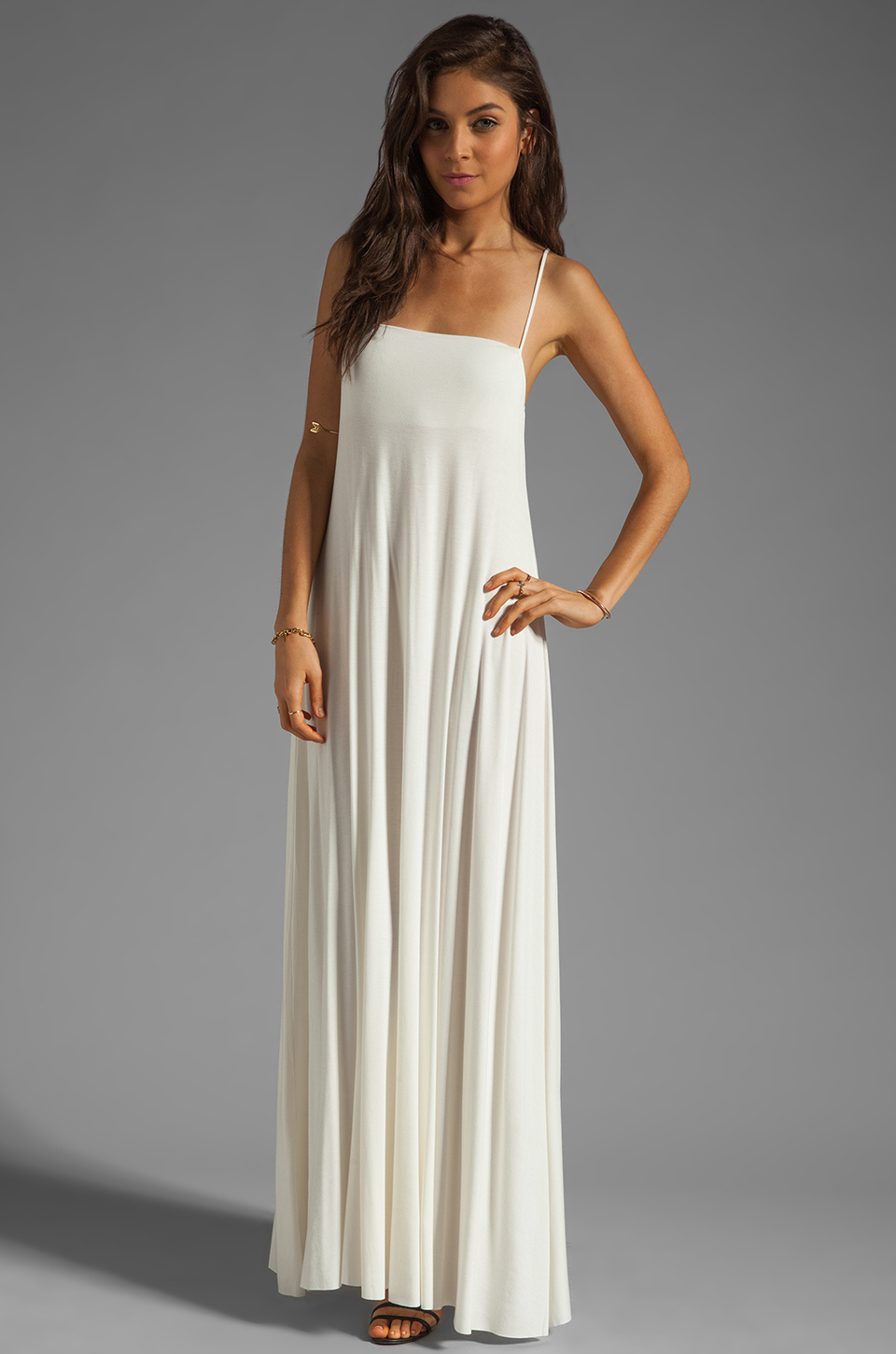 Rachel pally lyle maxi dress in white lyst gallery ombrellifo Image collections