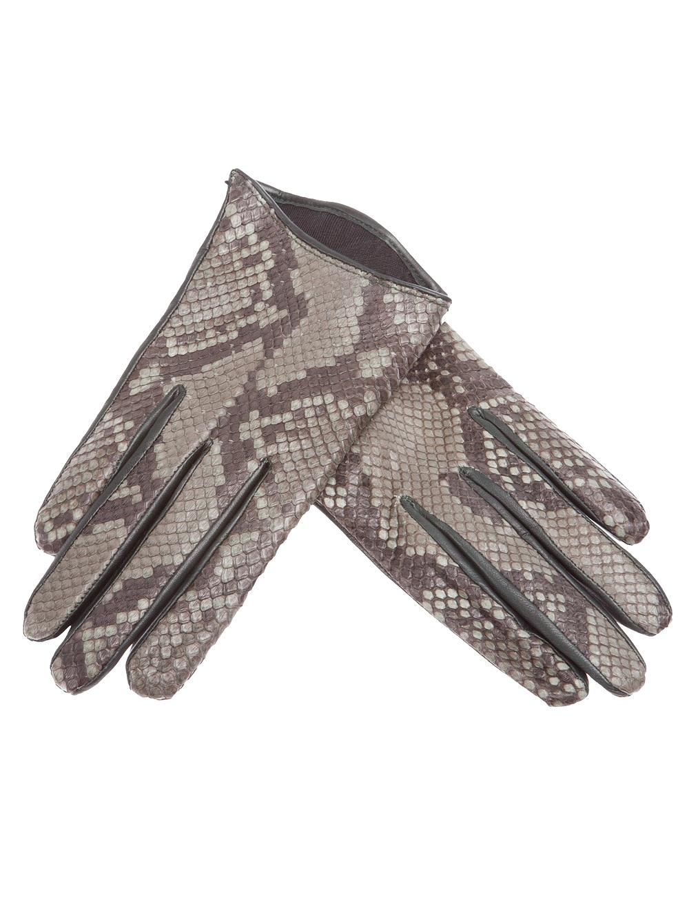 Imoni Snakeskin Print Gloves In Green Lyst
