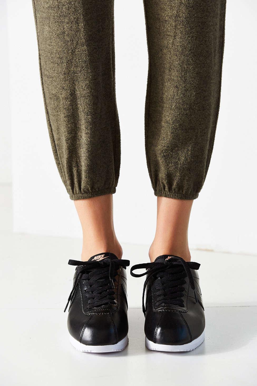 59ebd6cdebddd Lyst - Nike Women s Classic Cortez Leather Sneaker in Black
