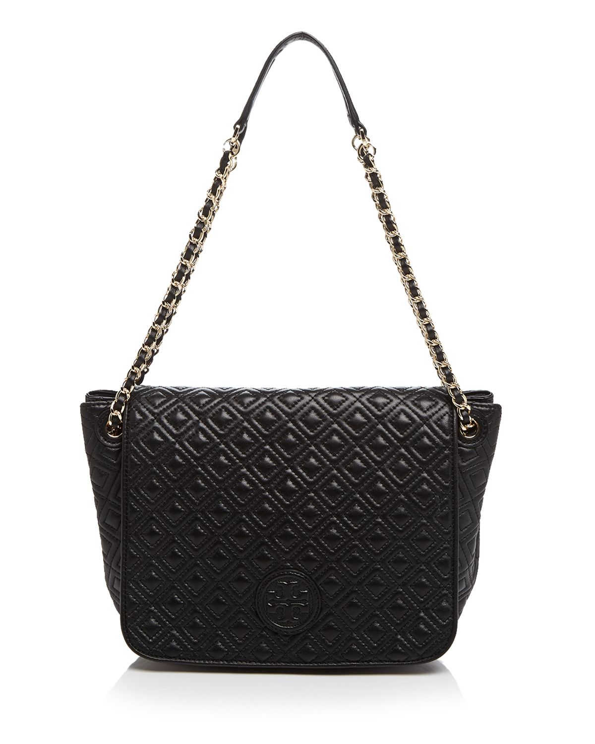 Tory Burch Shoulder Bag Marion Quilted Small In Black Lyst