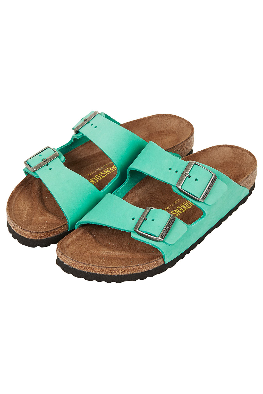 Lyst Topshop Birkenstock Arizona Sandals In Blue