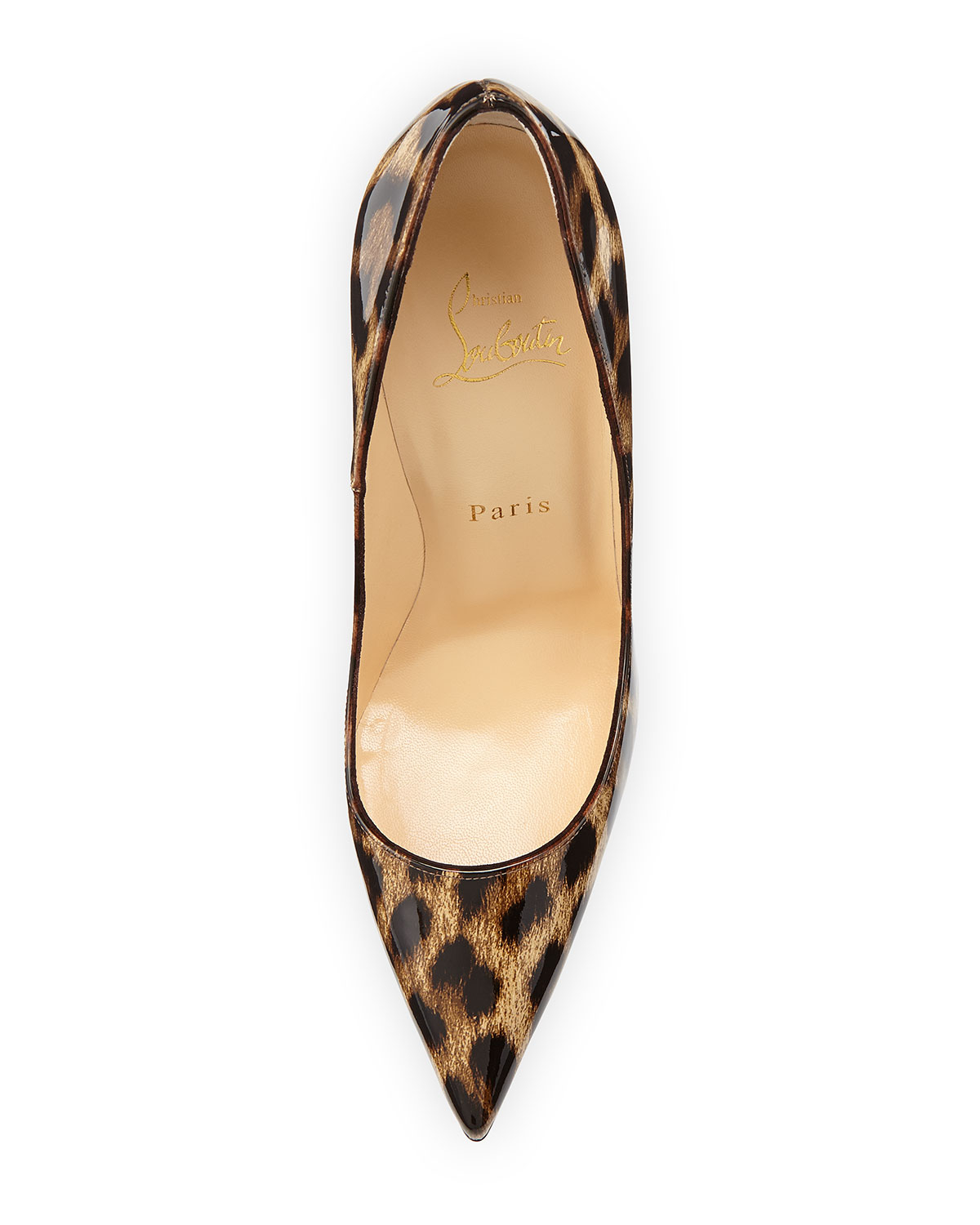 separation shoes 48b06 a42a4 Christian Louboutin So Kate Leopard-Print Patent Red Sole ...