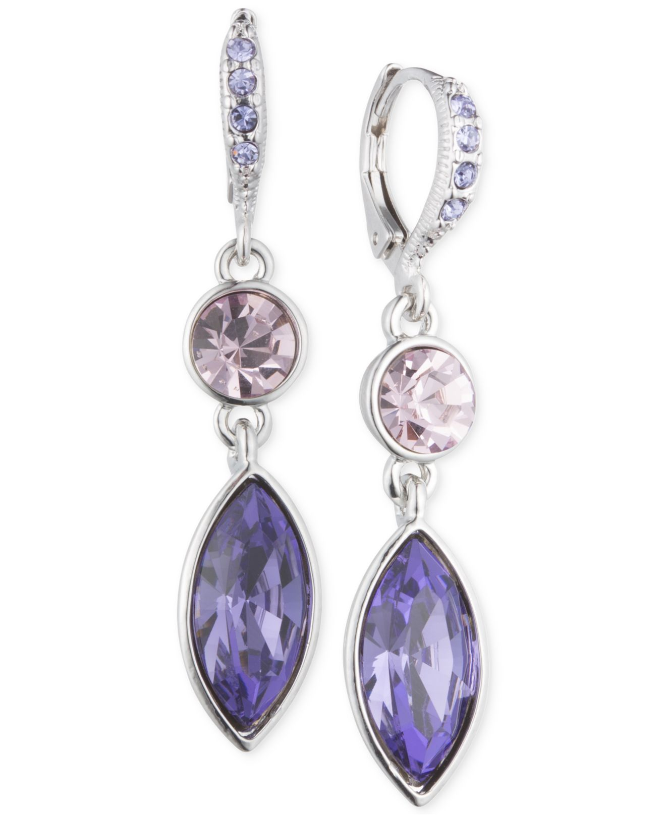 glitter ball in stud earrings sterling swarovski purple jewelry silver with lavender crystal