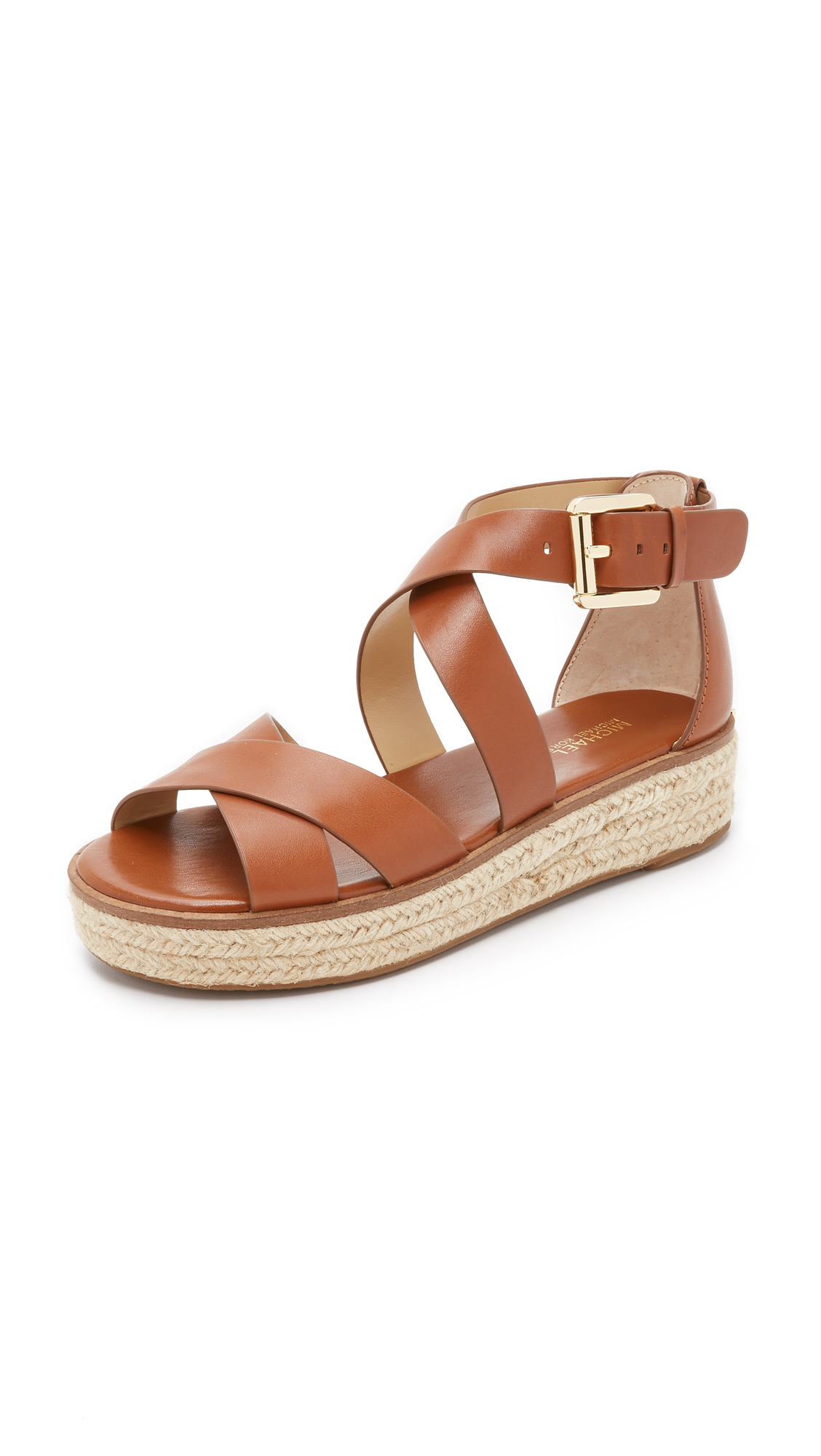 a5573f3e266a MICHAEL Michael Kors Darby Sandals in Brown - Lyst