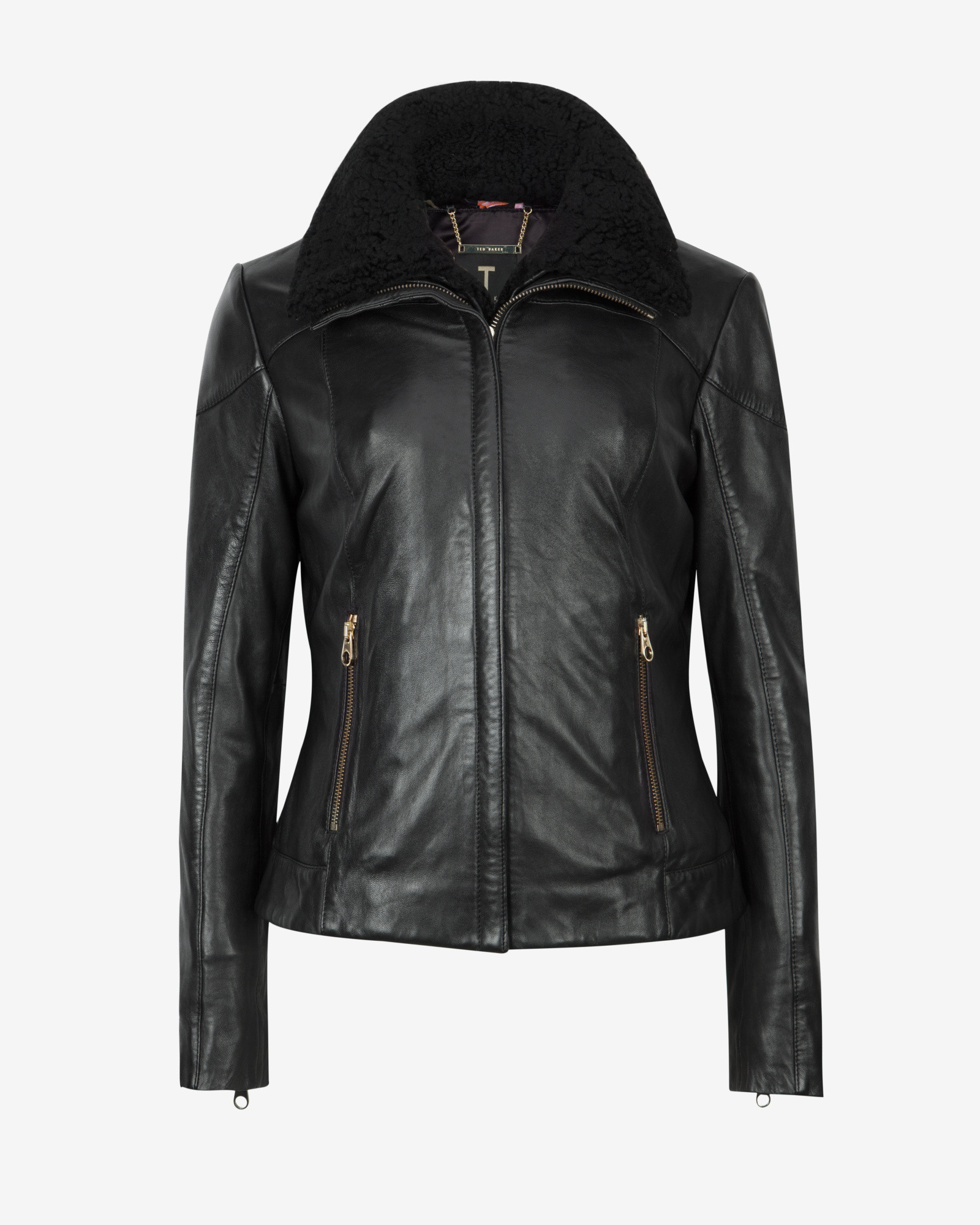 Ted baker leather jacket sale