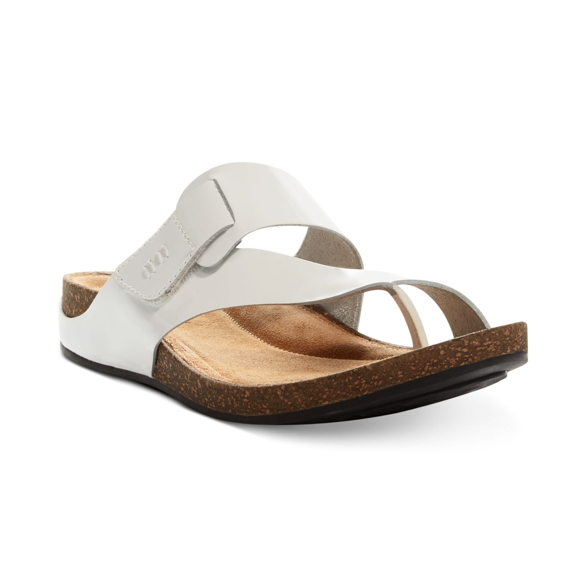 Clarks Womens Artisan Perri Coast Footbed Sandals In White