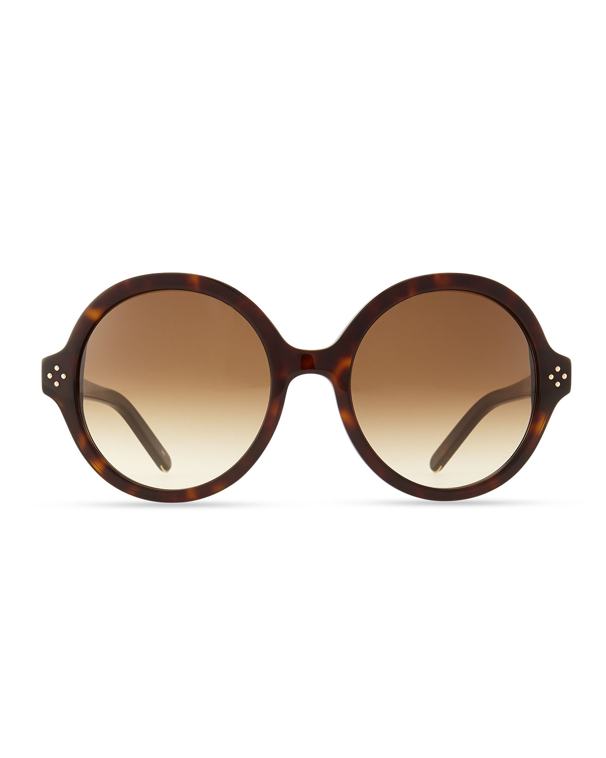 136325c0ed5 Lyst - Chloé Boxwood Round Sunglasses in Brown