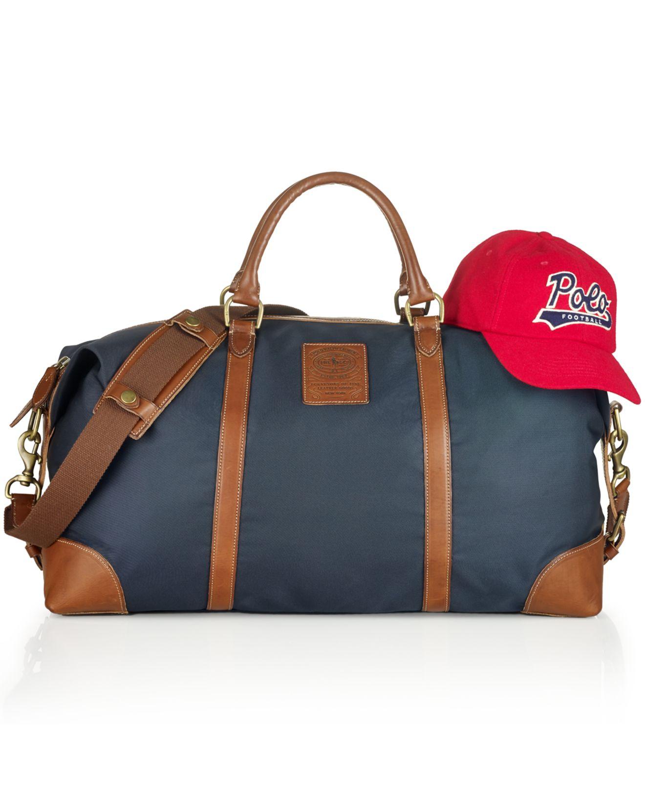 d52156deabd3 Lyst - Polo Ralph Lauren Large Nylon Duffel Bag in Blue for Men