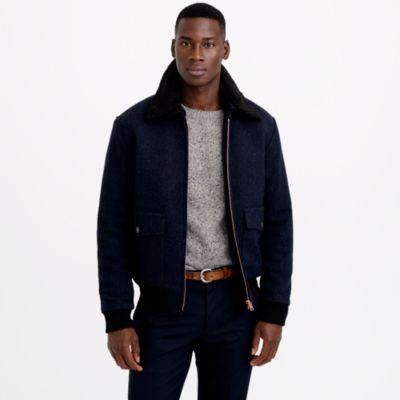 J.crew Private White V.C.™ Wool Flight Jacket in Blue for Men | Lyst