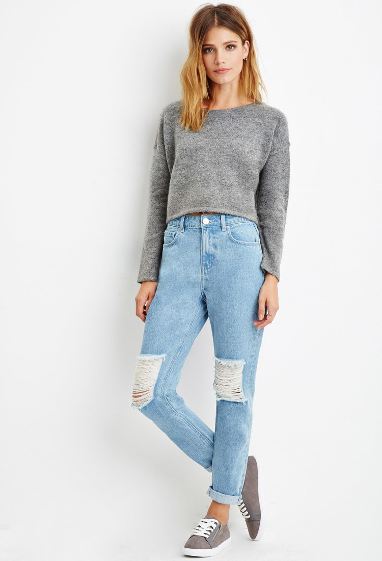 Gallery. Women's High Waisted Jeans - Forever 21 Contemporary Life In Progress High-waisted Ripped Jeans