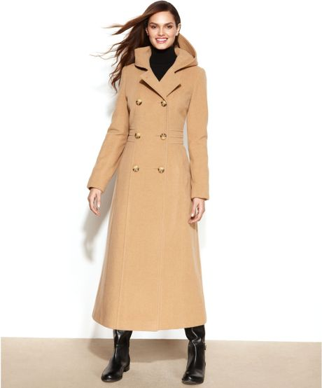 Anne Klein Double Breasted Wool Coat