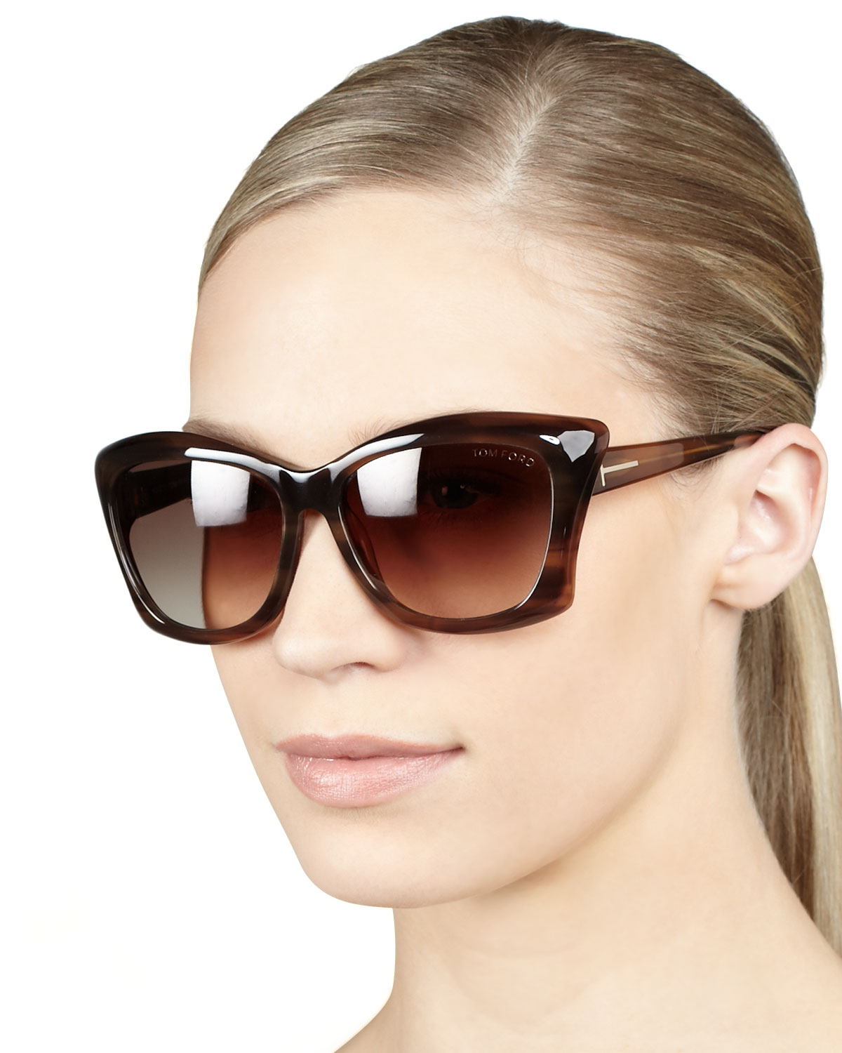 154a13f2453 Lyst - Tom Ford Lana Sunglasses Shiny Brown in Brown