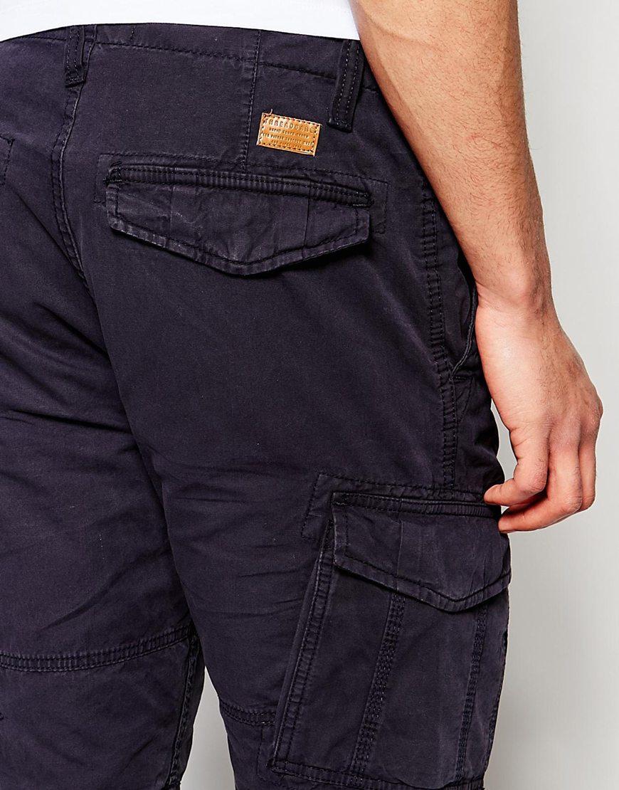 Threadbare Cargo Shorts in Blue for Men | Lyst