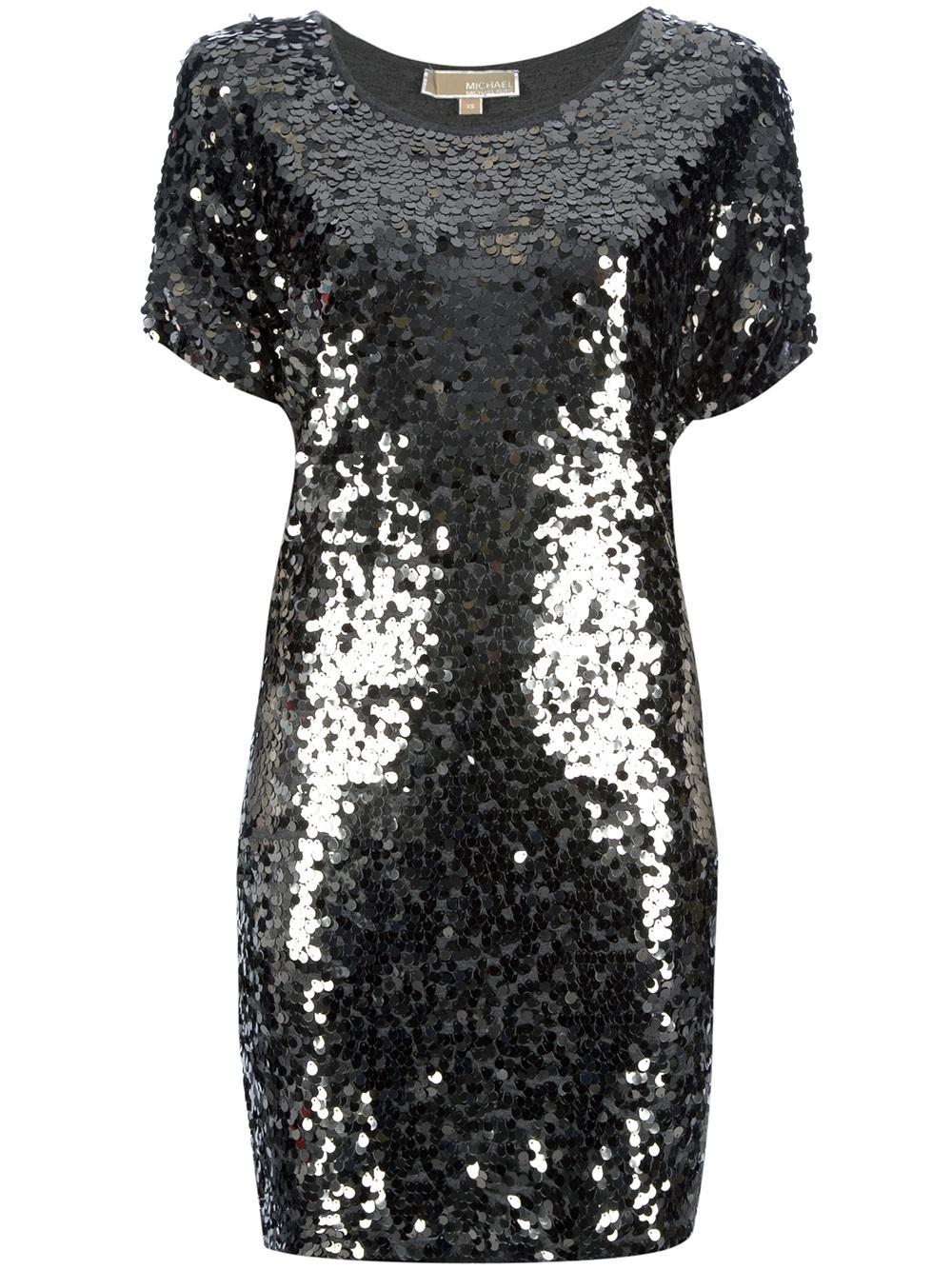 Lyst Michael Michael Kors Sequin Dress In Metallic