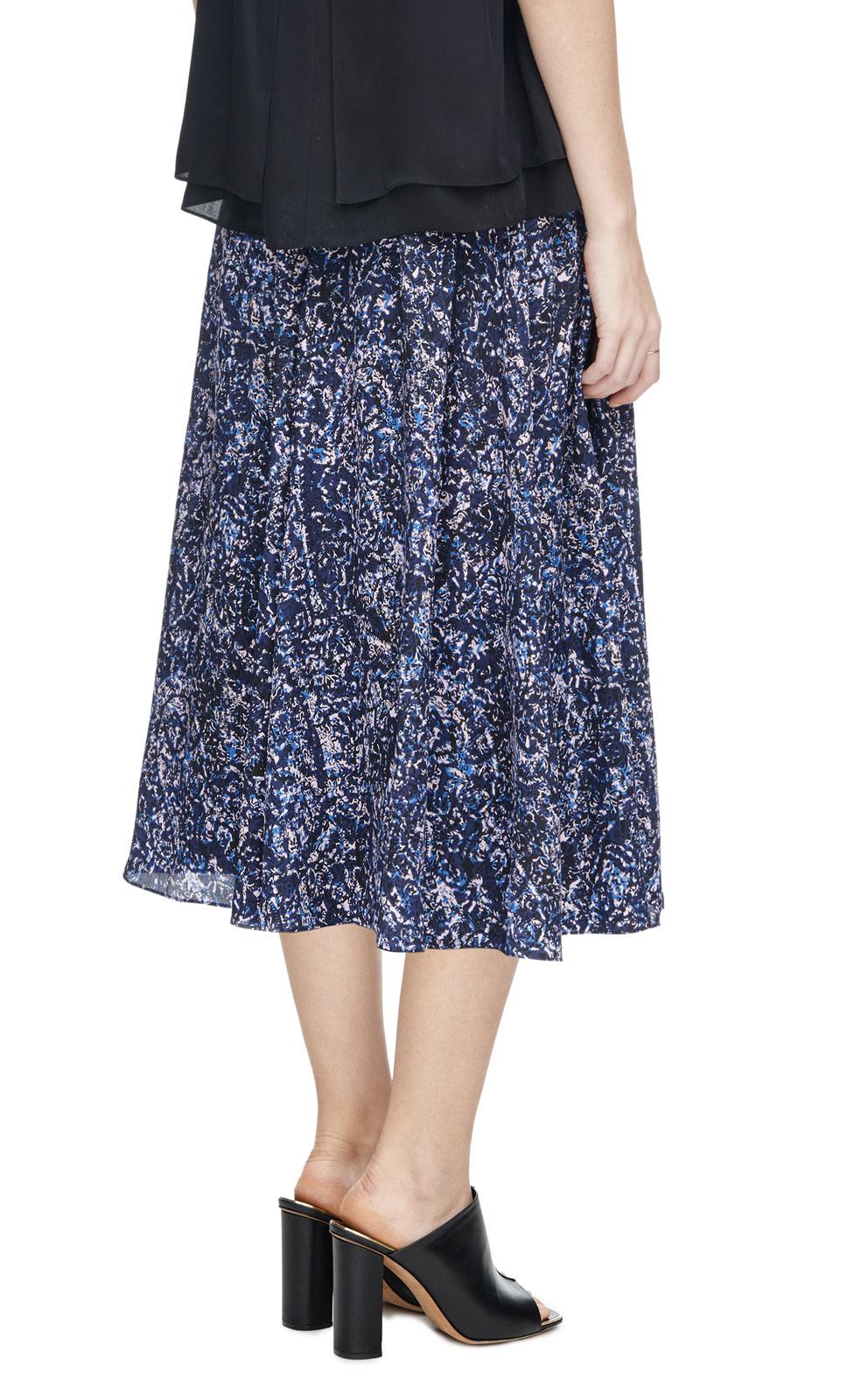 block print skirt in blue lyst