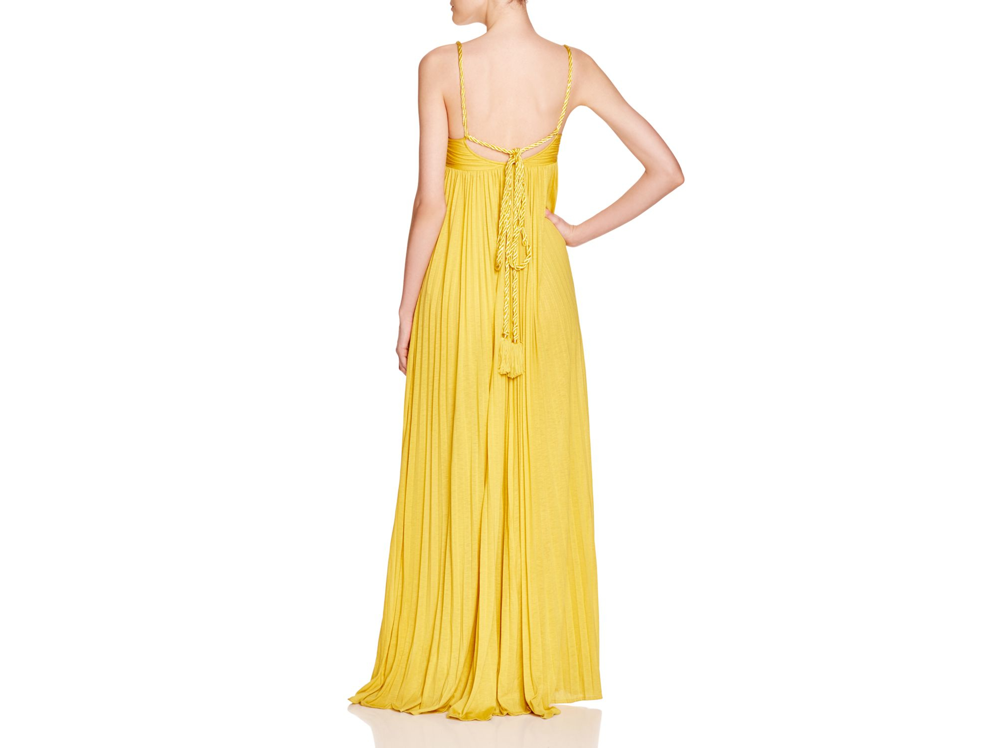 Lyst - Rachel Zoe Kim Rope Trimmed Crossover Gown in Yellow