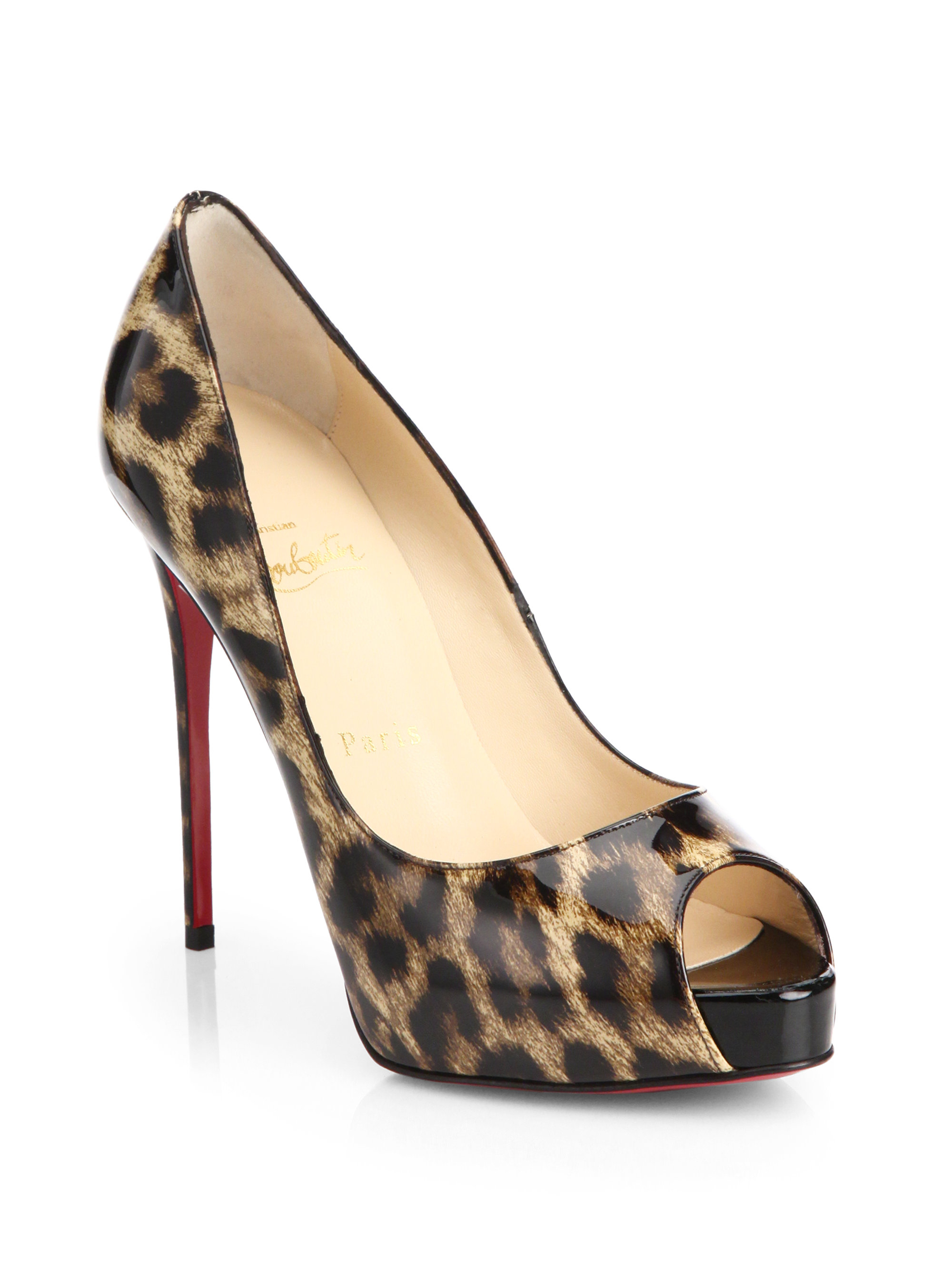 Artesur ? christian louboutin Very Prive peep-toe pumps Brown and ...