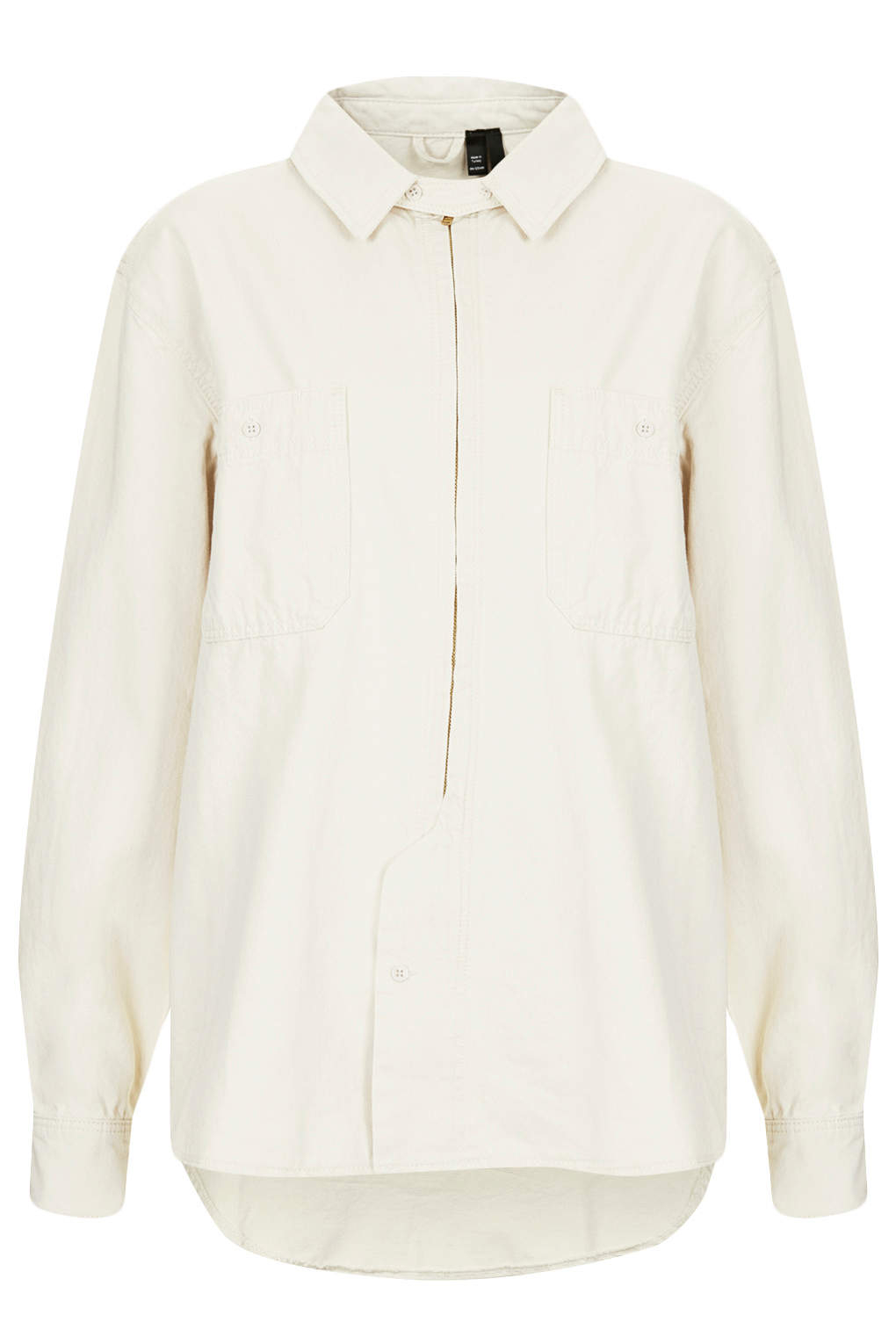 Topshop womens calico shirt by boutique ivory in white for Womens denim shirts topshop