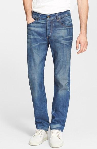 Lyst Rag Amp Bone Fit 3 Slim Straight Leg Jeans In Blue