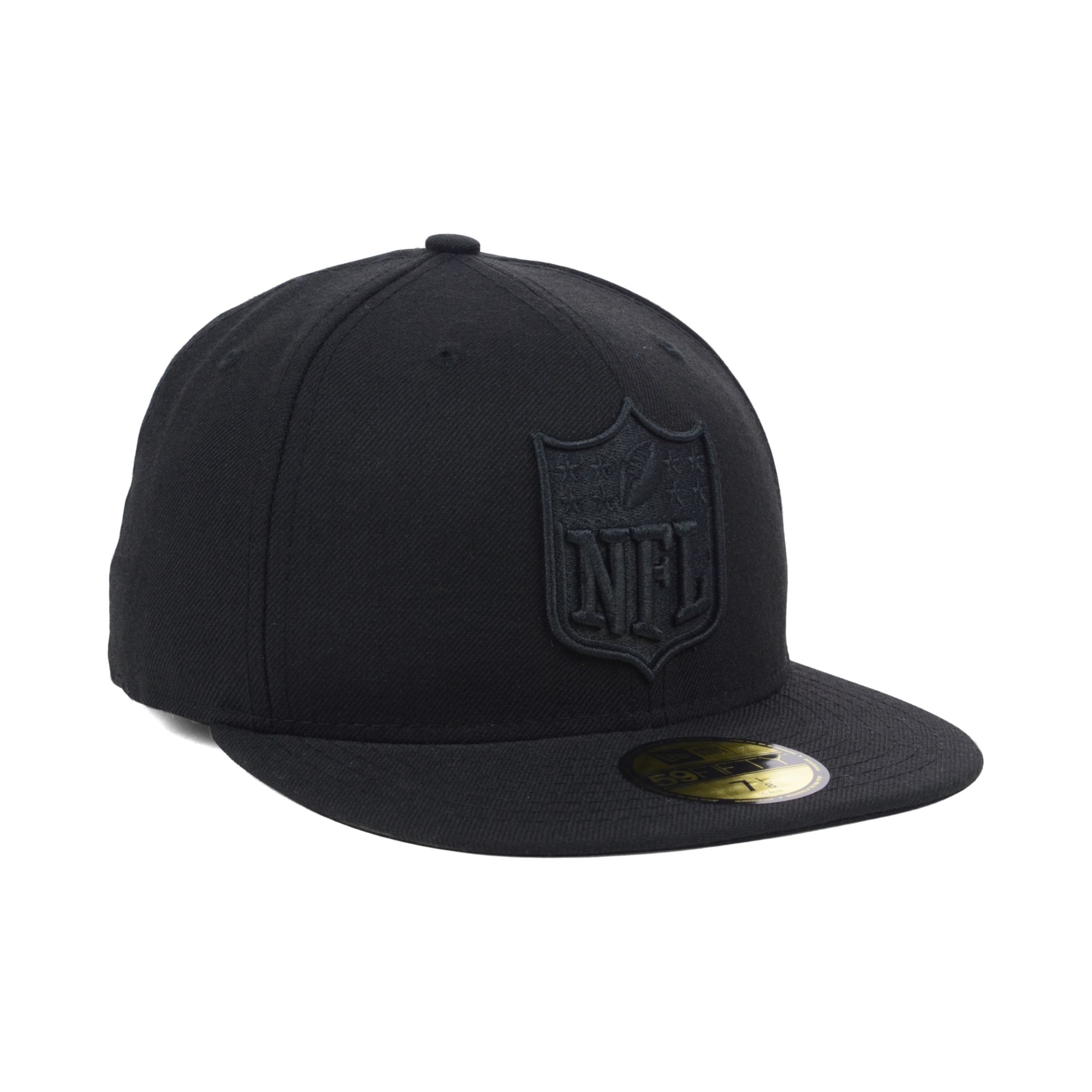 New Era Nfl Shield 59fifty Fitted Hat Black