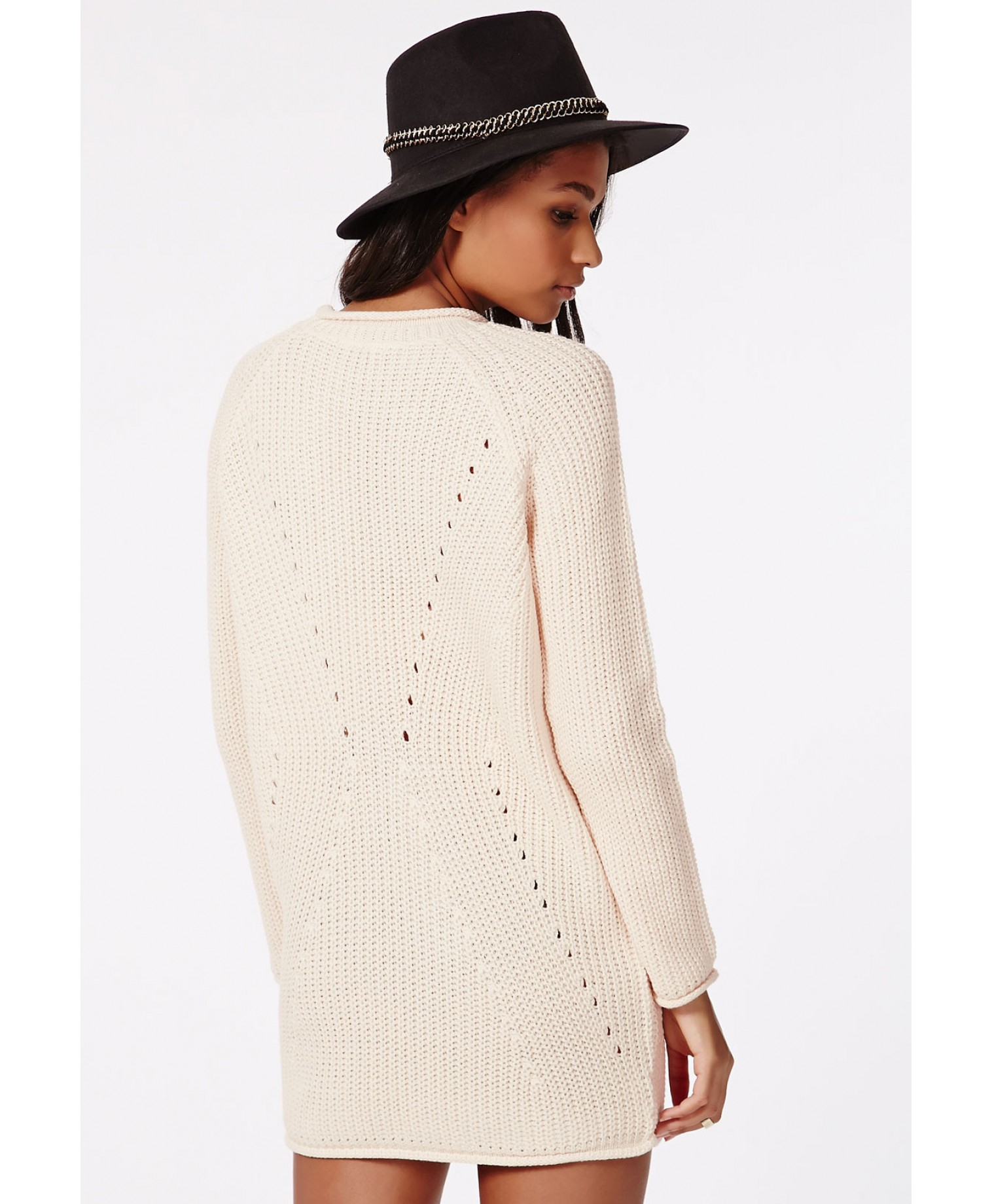 831fc959ed Missguided Ashlie Knitted Sweater Dress Vanilla in White - Lyst