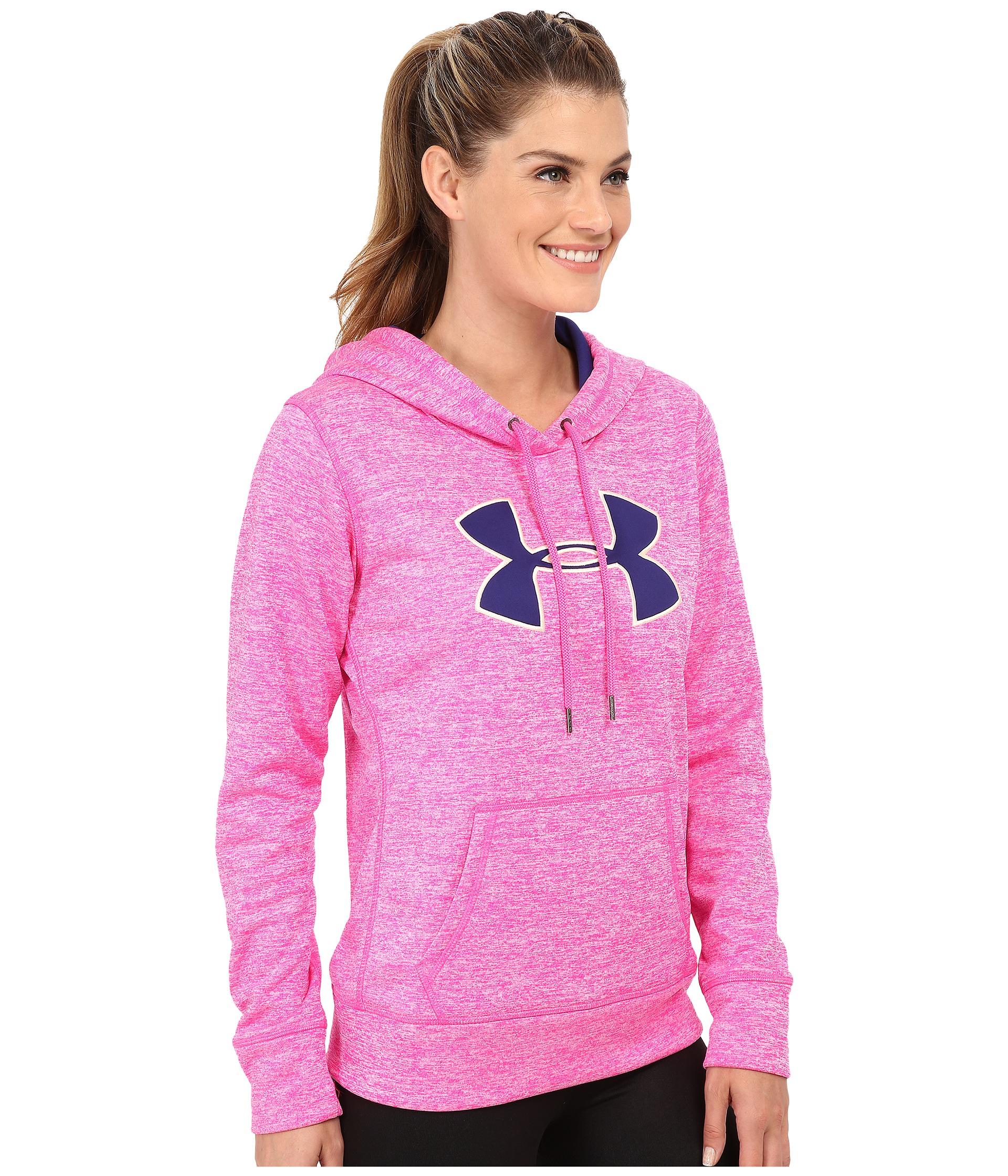 Under armour Ua Storm Armour® Fleece Big Logo Twist Hoodie in Pink ...