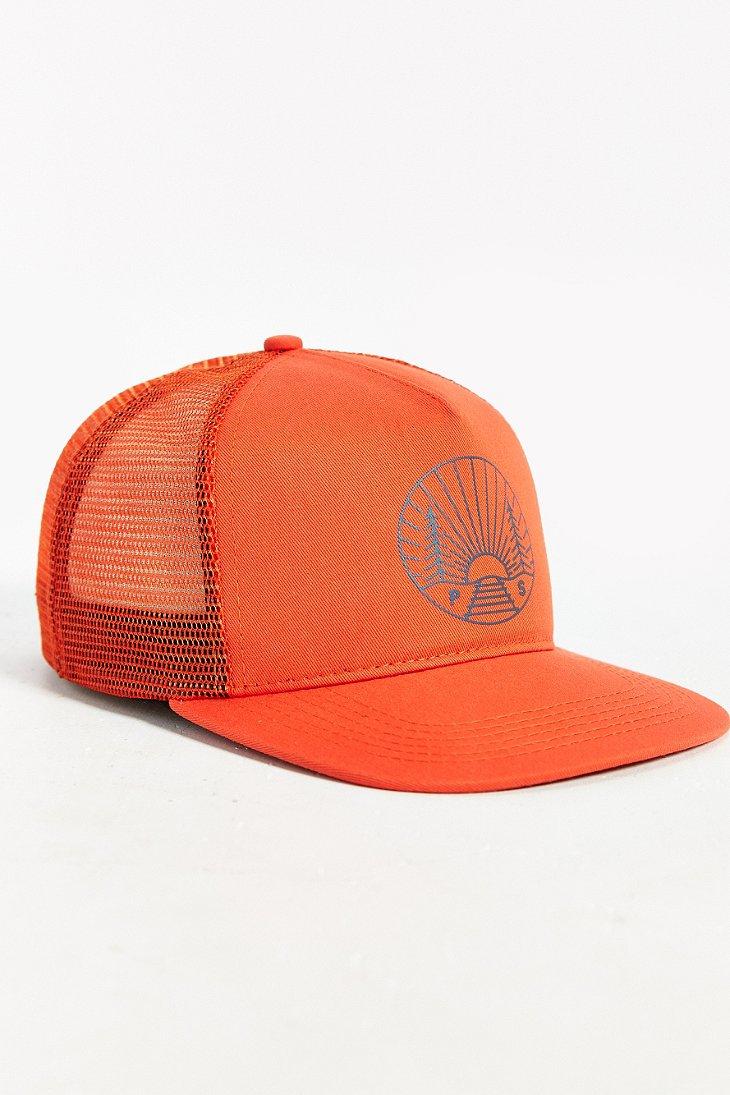 Lyst - Poler Camp Vibes Trucker Hat in Orange f71df96d5fc