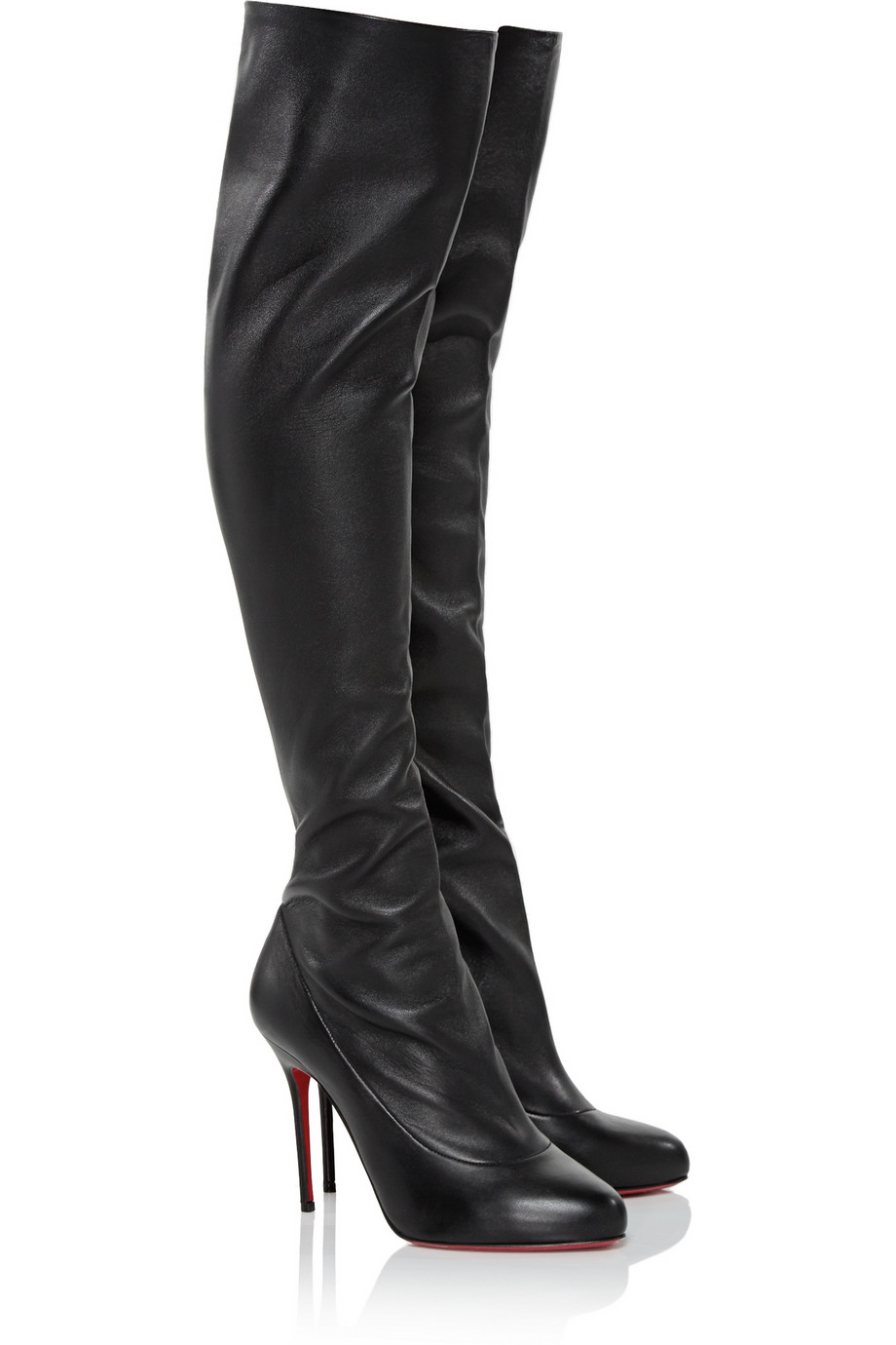540a7a0b6fa Lyst - Christian Louboutin Sempre Monica 100 Leather Over-The-Knee ...