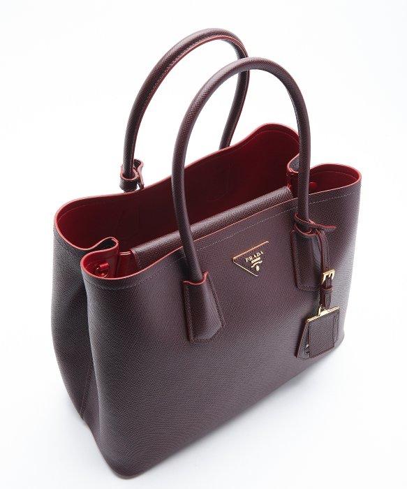 Prada Burgundy Saffiano Leather Convertible Tote in Purple ... - prada galleria bag burgundy