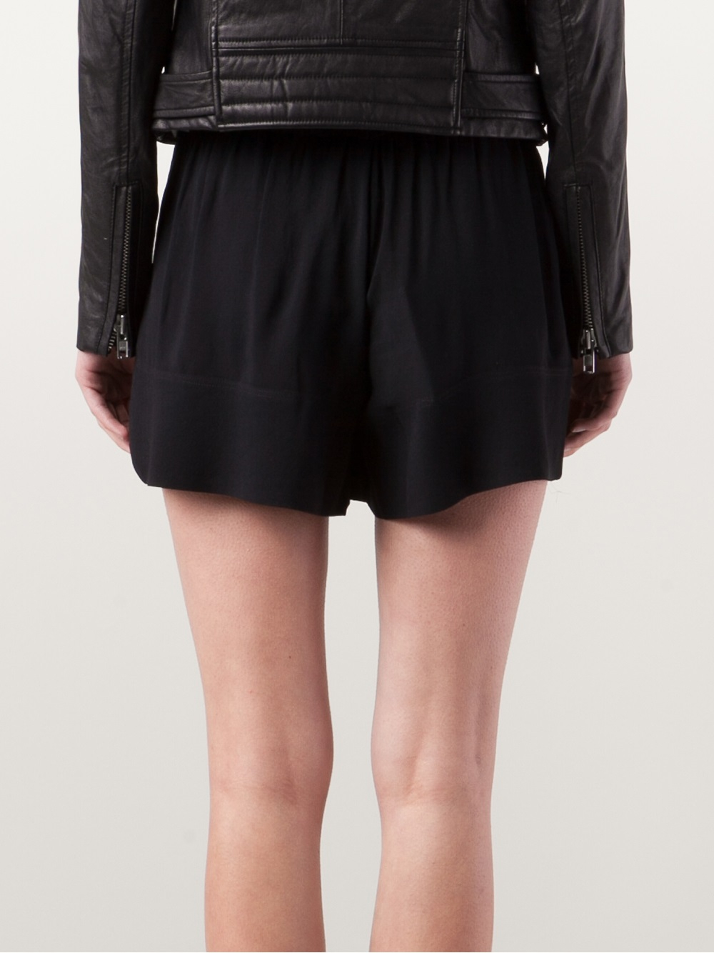 Iro Flowy Shorts in Black | Lyst