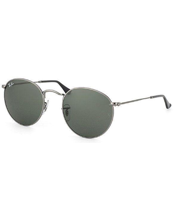 584326855b3 Lyst - Ray-Ban Rb 3447 29 Matt Gunmetal Round Metal Sunglasses in ...