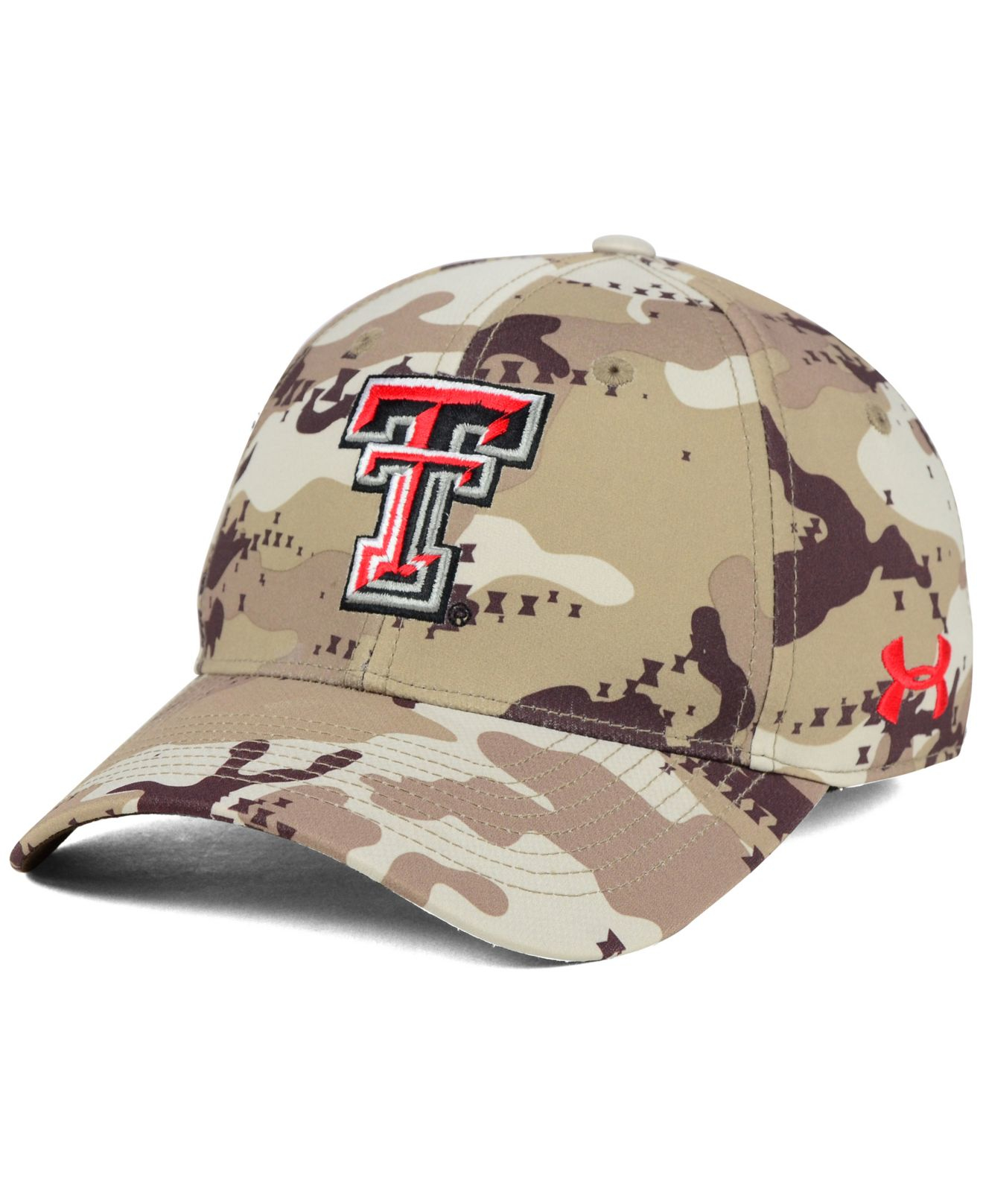 brand new a5159 4c177 ... discount lyst under armour texas tech red raiders camo stretch cap in  brown b2d89 9c4ae
