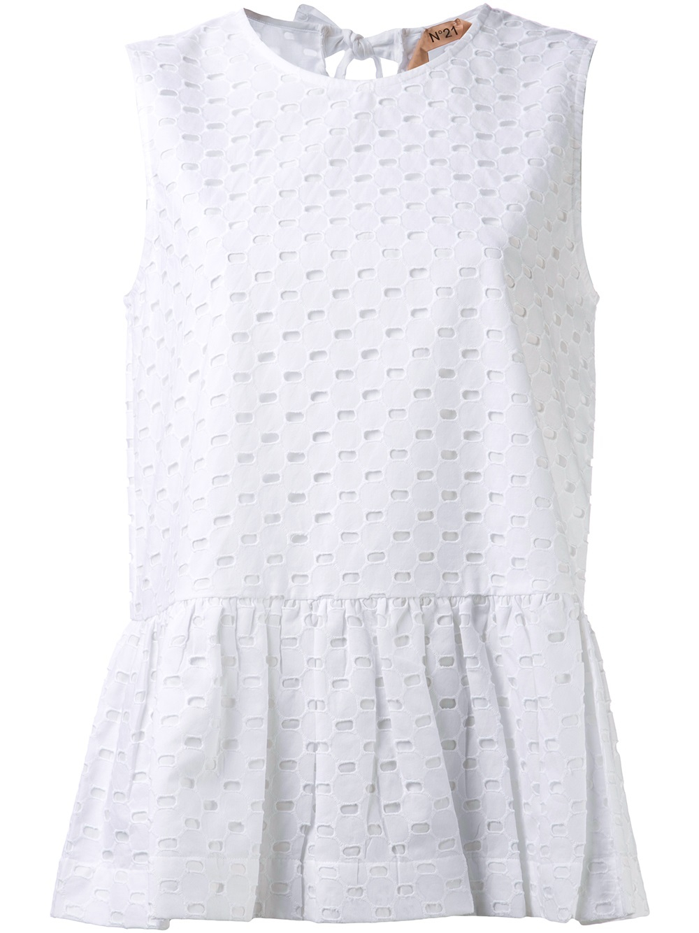 N°21 Eyelet Blouse in White | Lyst